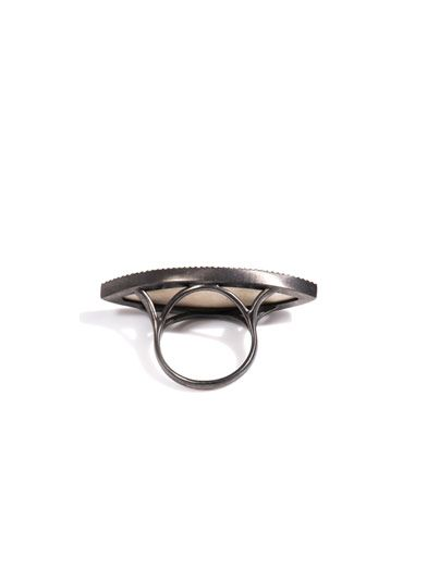 Monique Péan Diamond & fossilised mammoth Muyal ring
