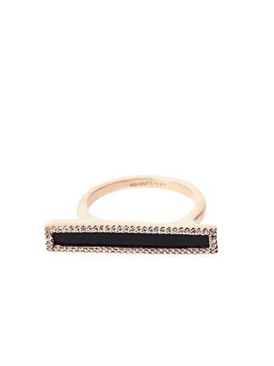 Monique Péan Diamond, black agate & gold ring