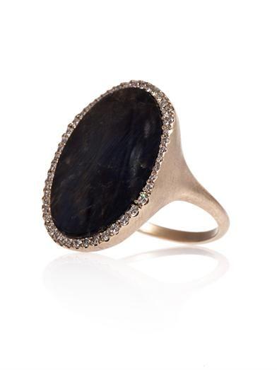 Monique Péan Diamond, spectrolite & gold ring