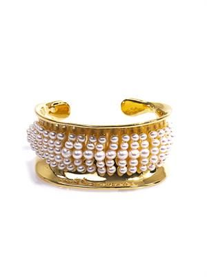 Cheyne Walk pearl & gold-plated cuff
