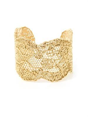 Gold-plated vintage lace cuff