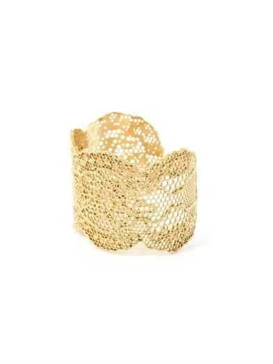Aurélie Bidermann Gold-plated vintage lace cuff