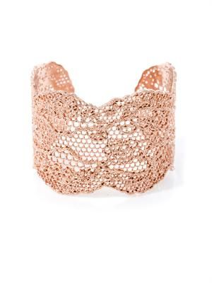 Rose gold-plated lace cuff