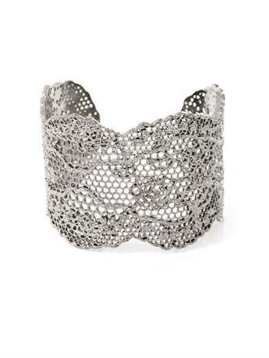 Aurélie Bidermann Silver-plated vintage lace cuff