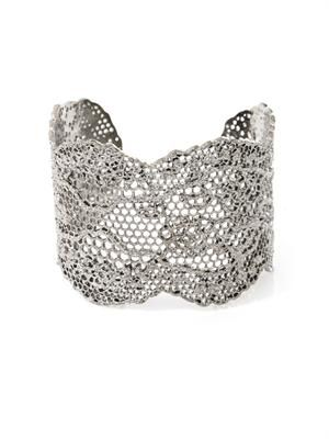 Silver-plated vintage lace cuff