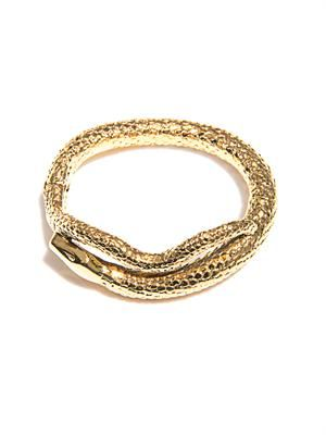 Tao gold-plated snake bracelet