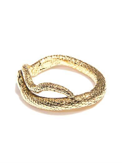 Aurélie Bidermann Tao gold-plated snake bracelet