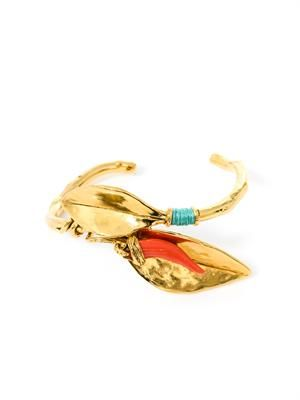 Monteroso gold-plated leaves bangle