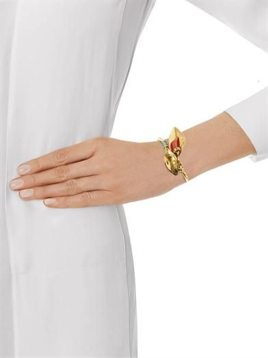Aurélie Bidermann Monteroso gold-plated leaves bangle