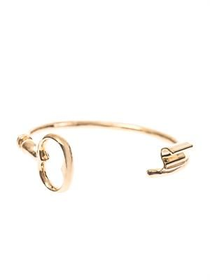 Rivoli gold-plated key bangle