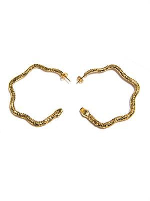 Tao hoop earrings