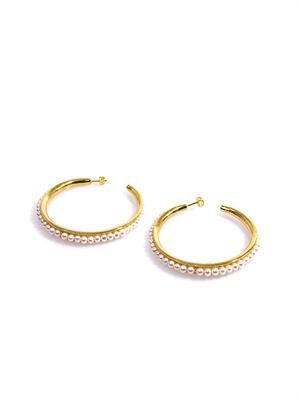 Cheyne pearl & gold-plated hoop earrings