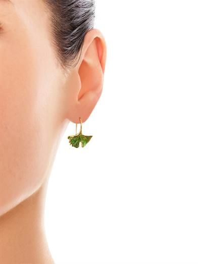 Aurélie Bidermann Ginko leaf earrings
