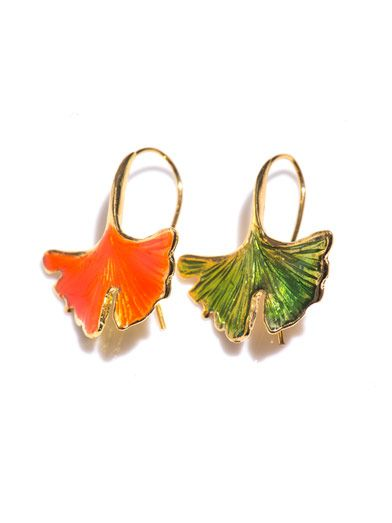 Aurélie Bidermann Ginko leaf earrings