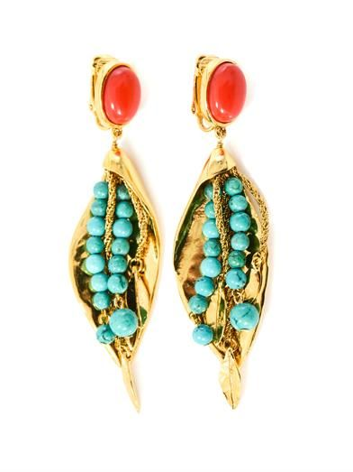 Aurélie Bidermann Monteroso gold-plated leaves clip earrings