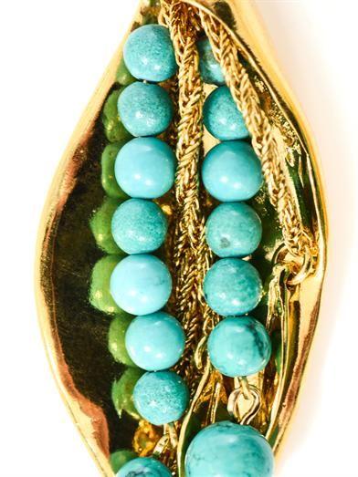 Aurélie Bidermann Monteroso gold-plated leaves earrings