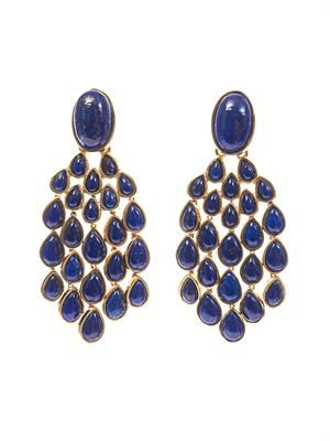 Cherokee lapis and gold-plated earrings