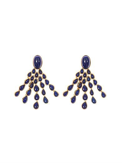 Aurélie Bidermann Cherokee lapis and gold-plated earrings