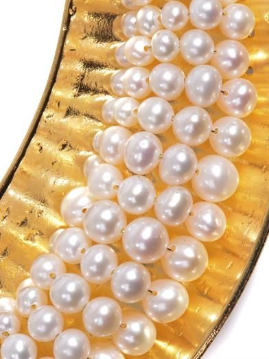 Aurélie Bidermann Cheyne Walk pearl & gold-plated necklace