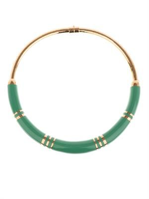 Positano resin and gold-plated necklace