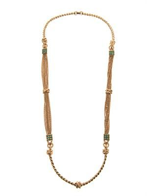 Palazzo gold-plated rope necklace