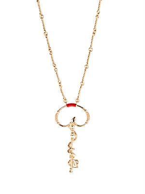 Soho key and snake necklace