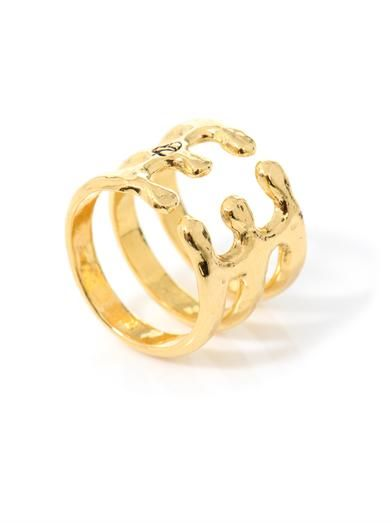 Aurélie Bidermann Esteban gold-plated ring