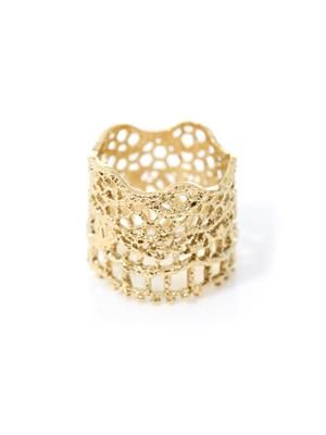 Gold-plated vintage lace ring