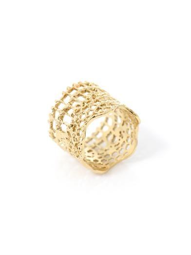 Aurélie Bidermann Gold-plated vintage lace ring