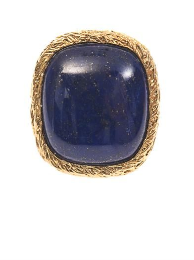 Aurélie Bidermann Miki lapis and gold-plated ring