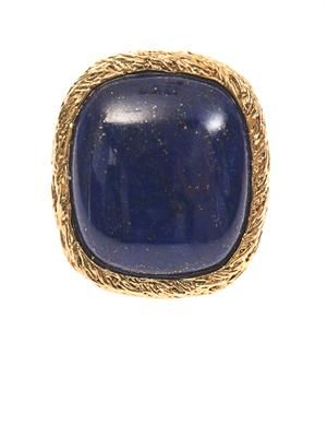 Miki lapis and gold-plated ring