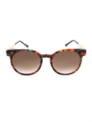 Painty round-frame sunglasses