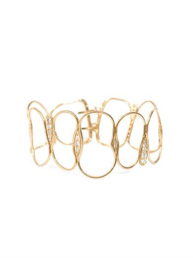 Fernando Jorge Diamond & yellow gold fluid chain bracelet