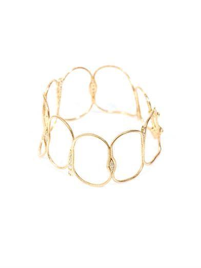Fernando Jorge Diamond and yellow gold fluid chain bracelet