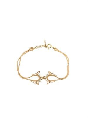 Diamond & yellow gold electric bracelet