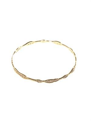 Diamond & yellow gold fluid bangle