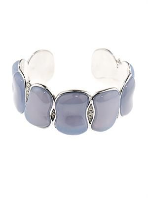 Diamond, chalcedony & gold bracelet