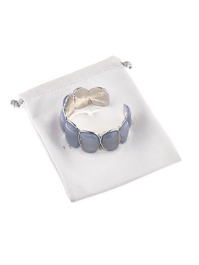 Fernando Jorge Diamond, chalcedony & gold bracelet