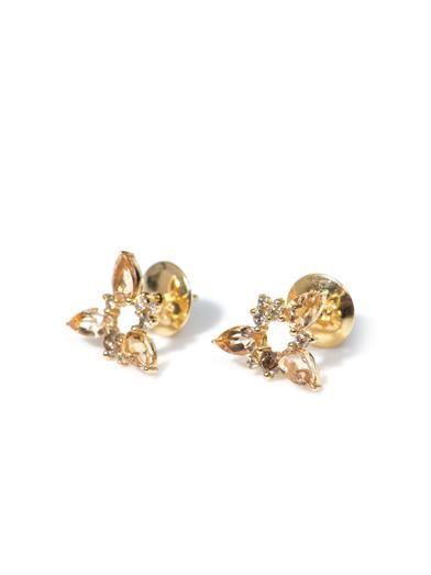 Fernando Jorge Diamond, topaz & gold Electric Spark earrings
