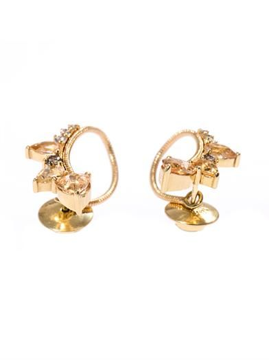 Fernando Jorge Diamond, topaz & gold loop earrings