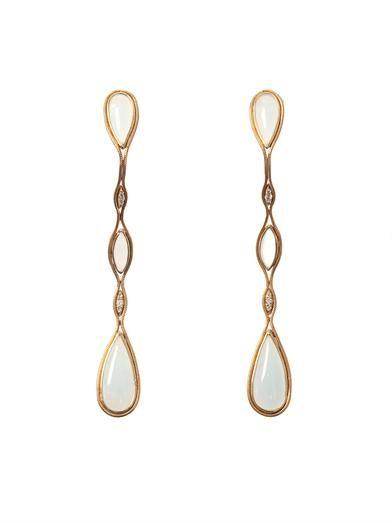 Fernando Jorge Diamond, aquamarine & gold Fluid earrings