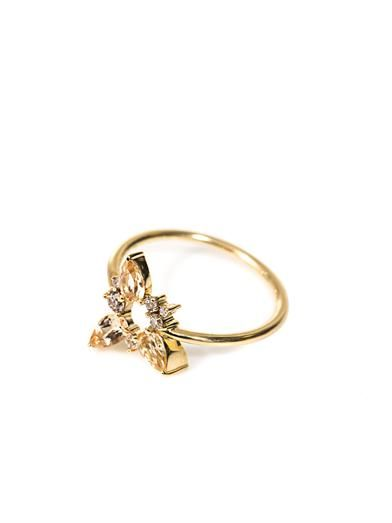 Fernando Jorge Diamond, topaz & gold Electric Spark ring