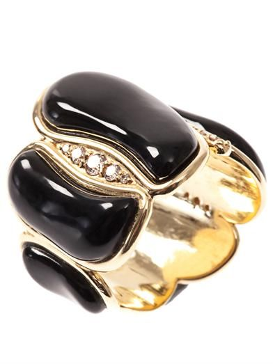 Fernando Jorge White-diamond & onyx ring