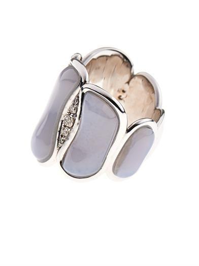 Fernando Jorge Diamond, chalcedony & gold ring