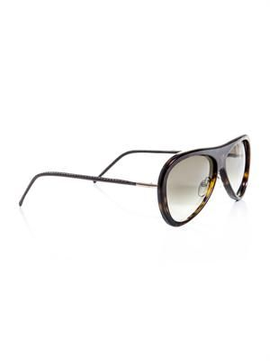 Flat top curved frame sunglasses