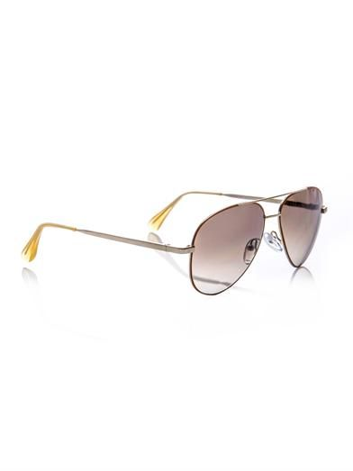 Cutler and Gross Aviator-style sunglasses
