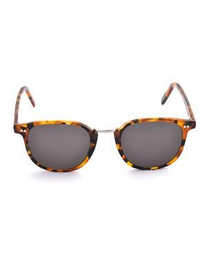 Retro D-frame sunglasses