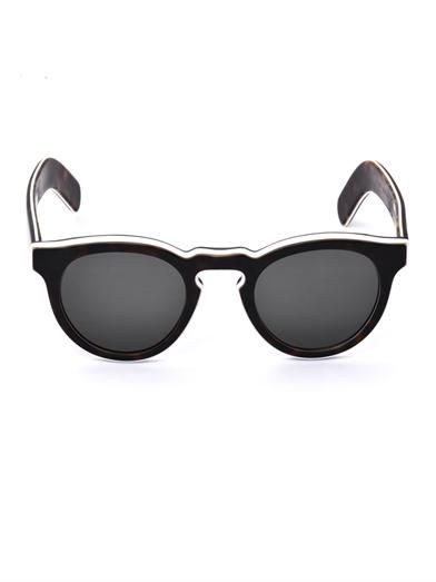 Cutler and Gross Tortoiseshell round sunglasses