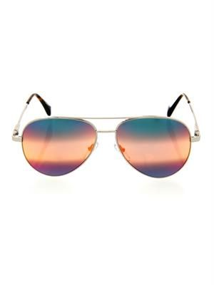 Rainbow mirror aviator-style sunglasses