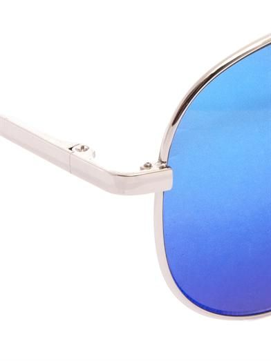 Cutler and Gross Mirrored Aviator-style sunglasses